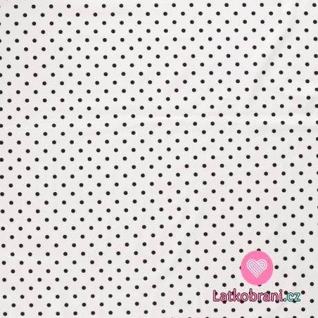 Úplet potisk puntíky na bílé