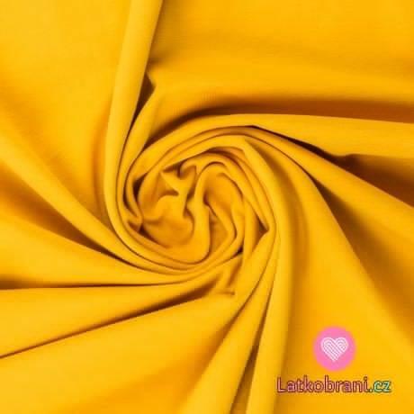 Jednobarevný úplet sytě žlutý