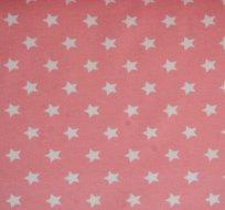 Úplet hvězdy bílé na růžovém podkladu- ZBYTEK