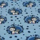 Úplet jednorožec v kroužku na modré