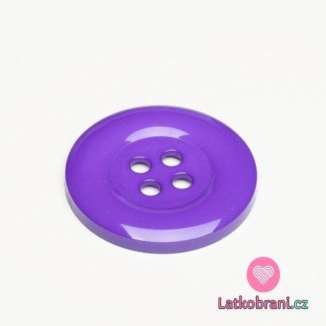 Knoflík mega velký tmavě fialový