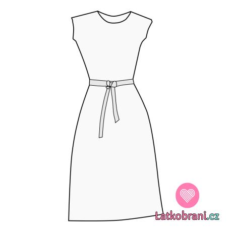 Střih dámské šaty Mischel XS-XL