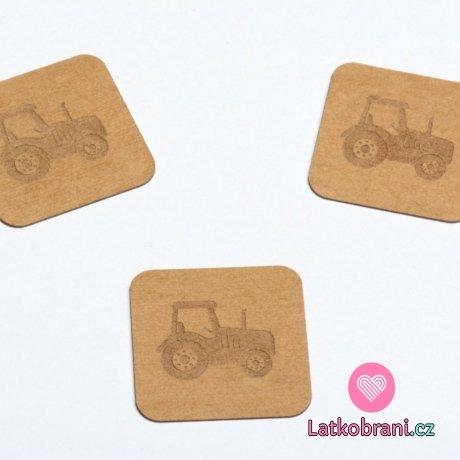 Štítek na oblečení traktor