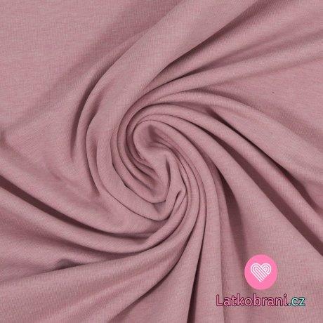 Teplákovina počesaná růžové melé