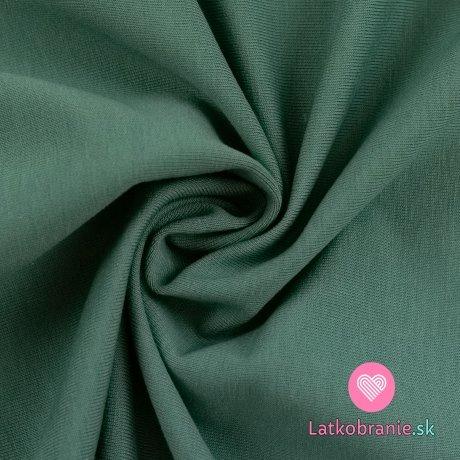 Teplákovina jednobarevná počesaná zaprášená smaragdová
