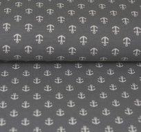 Úplet drobné kotvičky na šedé