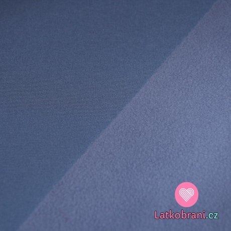 Softshell jeansově modro-šedý