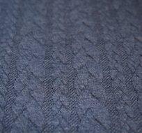 Pletenina copánky jeansová -ZBYTEK