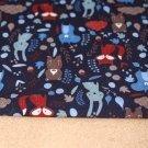 Softshell modré veverky na tmavě modré s fleecem