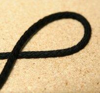 Šňůra kulatá oděvní bavlna 4 mm černá