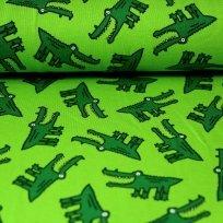 Úplet zelený krokodýl na zelené