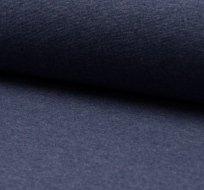 Náplet hladký džínsová tmavá melange 230 g