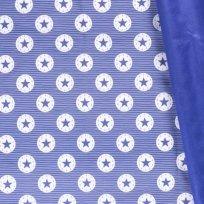 Sofshell zimní potisk modré hvězdy v bílém kruhu na světle modré