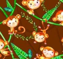 Teplákovina opičky na hnědé