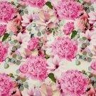 Úplet potisk růžové magnolie a pivoňky