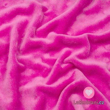 Coral fleece růžová pink (sytější)
