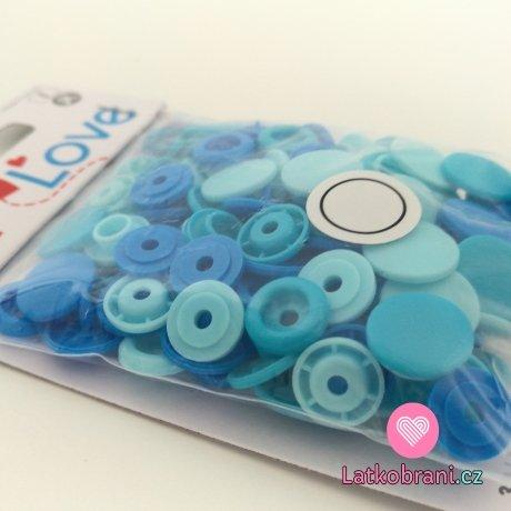 Patentky plastové Color snaps PRYM LOVE - modrý mix