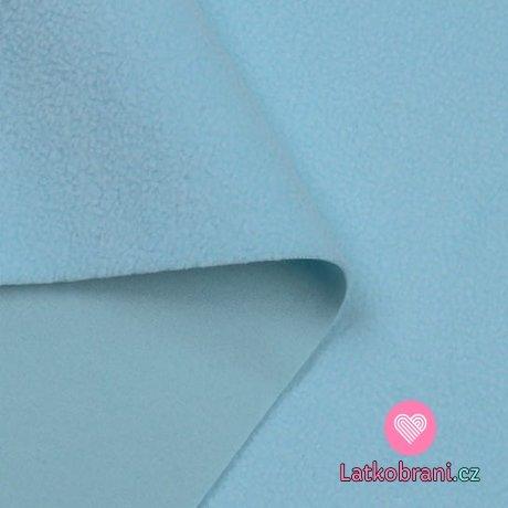 Softshell baby modrý s fleecem