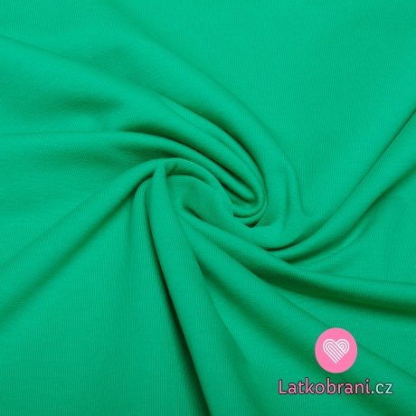 Teplákovina jednobarevná zelená