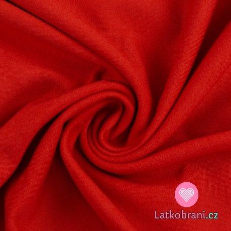 Teplákovina jednobarevná sytě červená