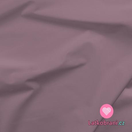 Bavlněné plátno jednobarevné fialovo-růžové zaprášené