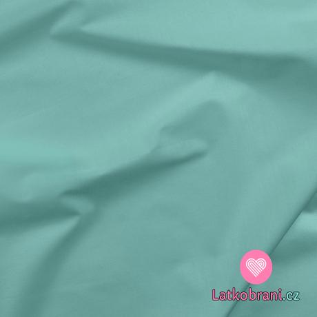 Bavlněné plátno jednobarevné světle tyrkysové