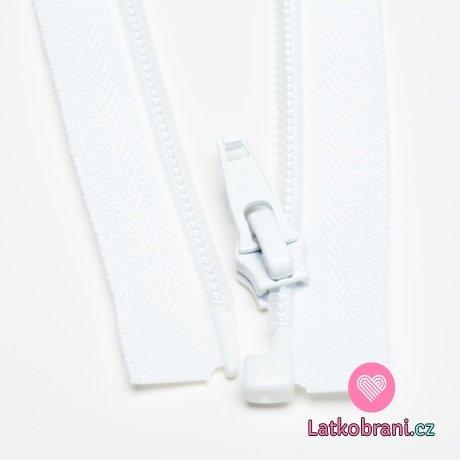 Zip spirálový dělitelný bílý 30cm