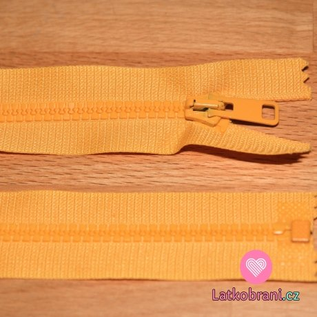 Zip kostěný dělitelný 50cm žlutá sytá