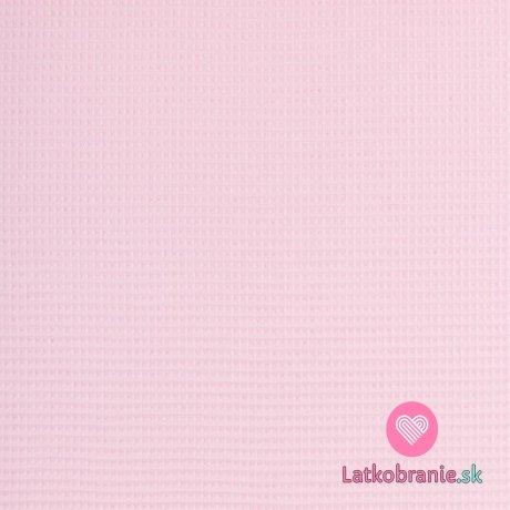 Bavlněná vaflovina jednobarevná baby růžová