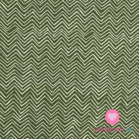 Úplet potisk cik cak na zelené