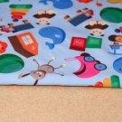 Softshell dětské hračky na modré s fleecem