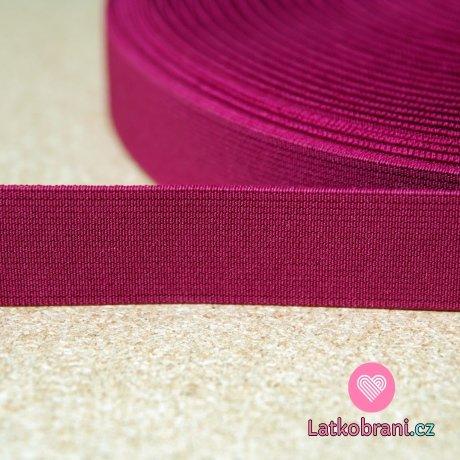 Pruženka barevná amarant 25mm
