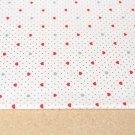 Bavlněný úplet srdíčka s puntíky na bílé
