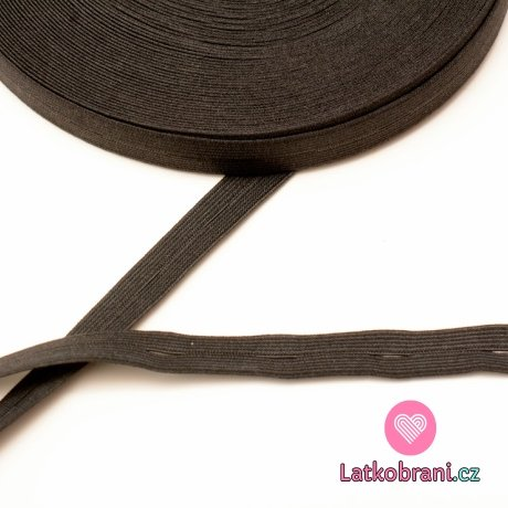 Pruženka dírková 15 mm černá