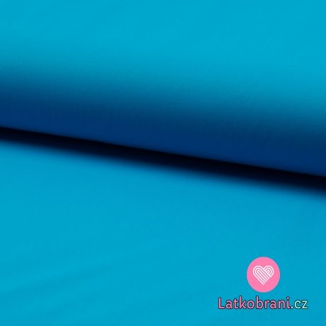 Softshell jednobarevný celoroční strečový tyrkysově modrý