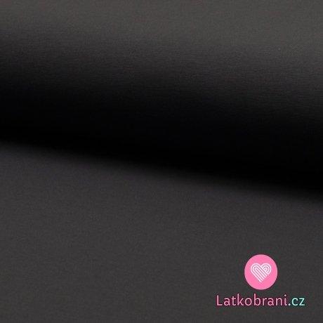 Jednobarevná teplákovina šedá tmavější