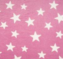 Wellsoft hvězdy bílé na růžové-ZBYTEK