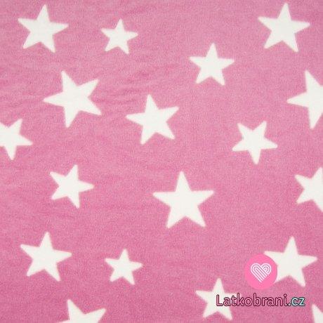 Wellsoft hvězdy bílé na růžové