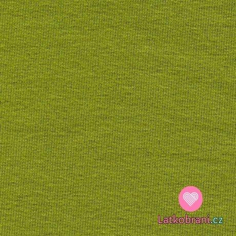 Náplet hladký zelený mech
