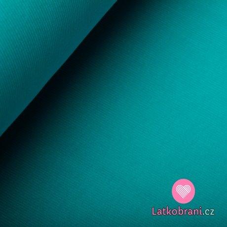 Náplet žebro modrý tyrkysový