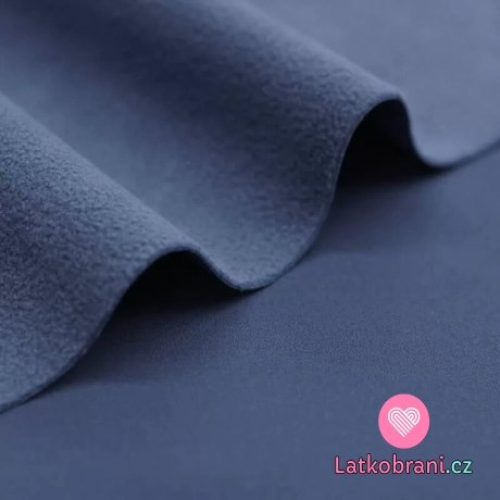 Softshell strečový zimní jeansově modrý
