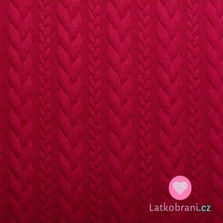 Pletenina copánky červená