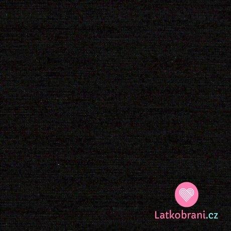 Jednobarevný, jednolícní bavlněný úplet černý 180g