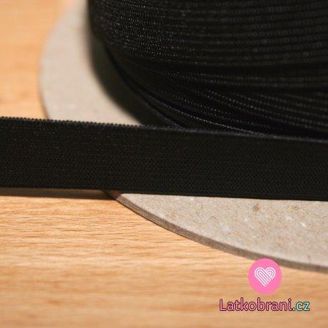 Pruženka plochá černá 20 mm