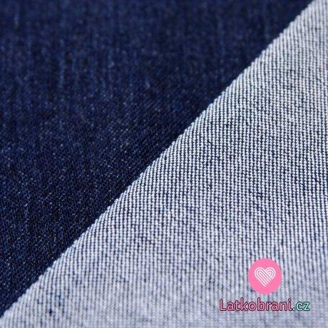 Jeans/Denim modrá ryflová tmavá