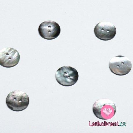 Knoflík kulatý, tahita perleťový 16mm