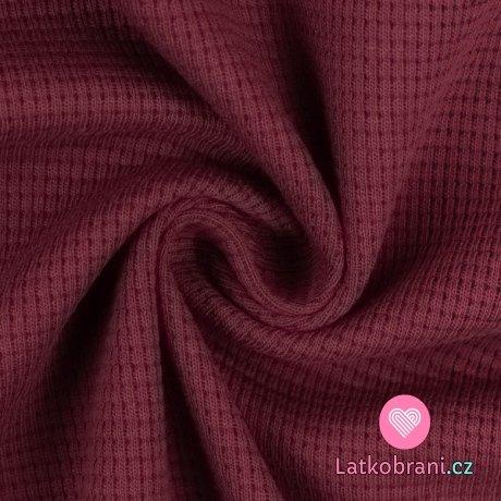 Bavlněná vaflovina jednobarevná bordó