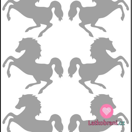 Reflexní nažehlovačka skákající koně (6ks)