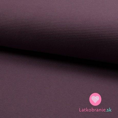 Bavlněný vaflový úplet jednobarevný fialový
