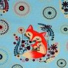 Teplákovina lišky na modré